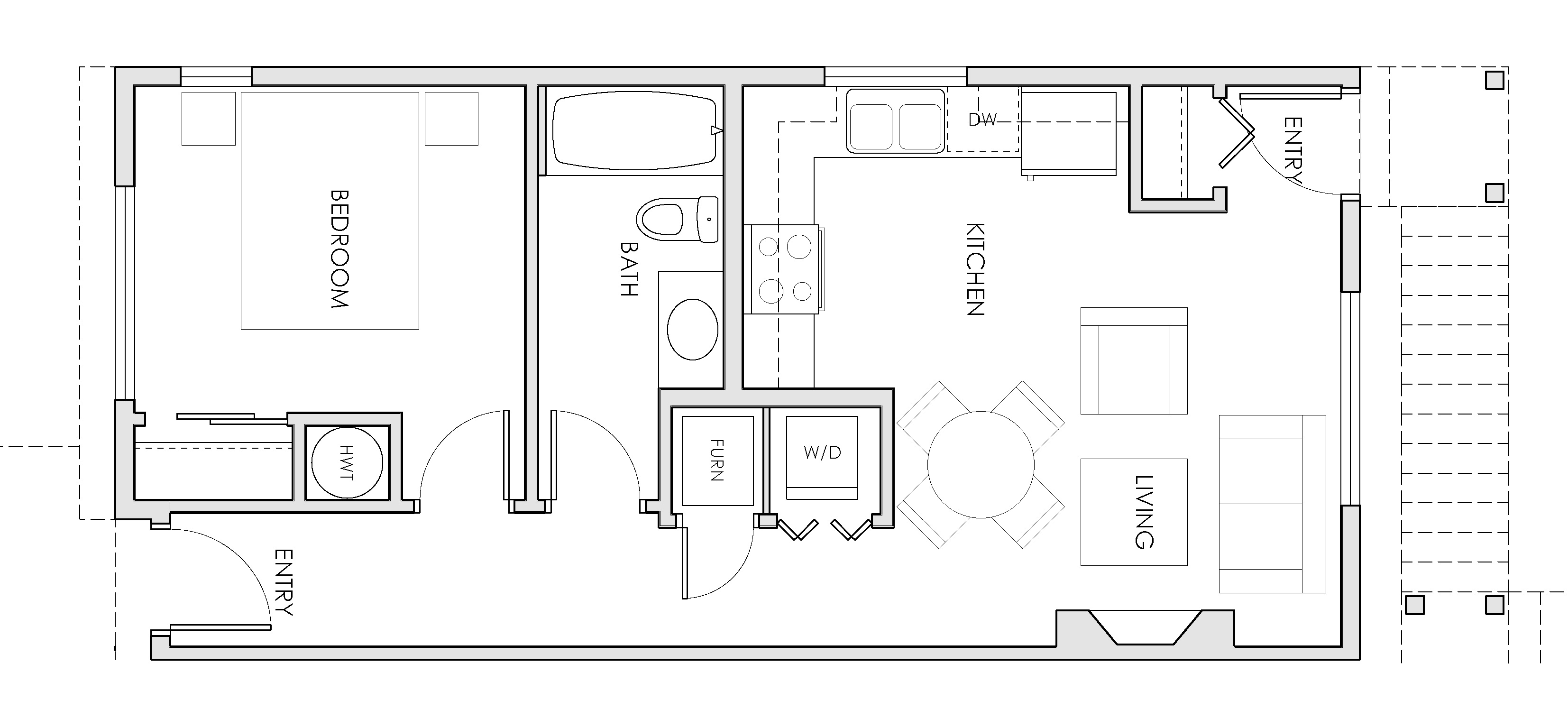floorplans 1 bedroom